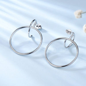 Hoop Earrings For Women Silver  Circle Earrings